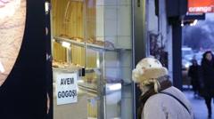 Pastry Shop Bucharest Romania Stock Footage