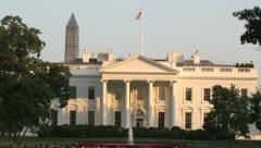 White House in Spring - Tilt Down From Sky Stock Footage