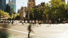 Sydney Town Hall time lapse Stock Footage