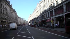 Regents Street in London's West End UK 2 Stock Footage