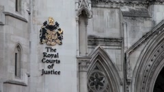 The Royal Court of Justice, The Strand, London 2 Stock Footage