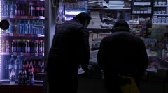 Typical Newsagent's Shop Bucharest Romania Stock Footage