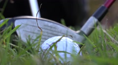 Driving the Ball, Pitching, Hitting, Golf Swing Stock Footage