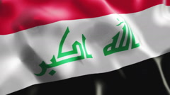 Flag of Iraq Stock Footage