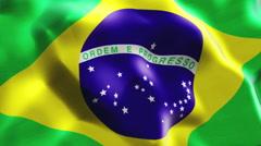 Flag of Brasil Stock Footage