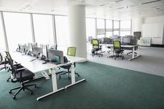 View of empty office - stock photo