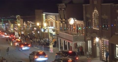 Sundance Film Festival Night Time - stock footage