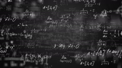 Math equations - stock footage