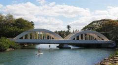 Haleiwa bridge hawaii-1 4K Stock Footage