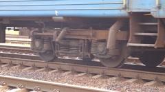 Wheels of train Stock Footage