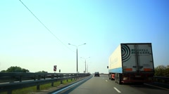 summer day and road with cars. HD. 1920x1080 - stock footage
