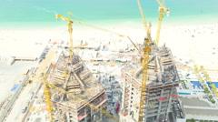 Time lapse Dubai real estate business building investment city tourist tourism Stock Footage