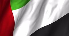 United Arab Emirates Waving Flag-4K Stock Footage