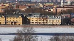 St. Petersburg aerial view Stock Footage