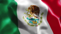 Seamless looping flag of Mexico Stock Footage