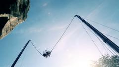 The extreme flying attraction Stock Footage