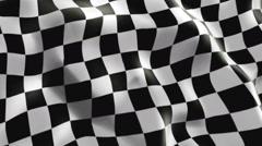 Racing Flag - stock footage