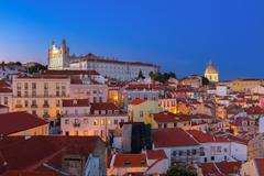 View of Alfama, Lisbon, Portugal Stock Photos