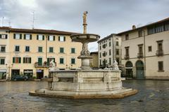 Fountain In Prato - stock photo