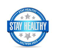 Stay healthy seal illustration design Stock Illustration
