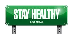Stay healthy road sign illustration design Stock Illustration