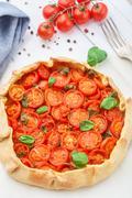 Cherry tomato tart - stock photo