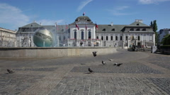 Presidential palace in Bratislava. Stock Footage