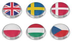 Nation flag icon set Stock Illustration