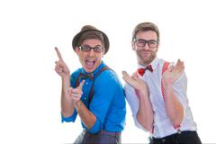 goofy business men - stock photo