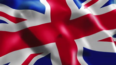 Flag of UK - stock footage