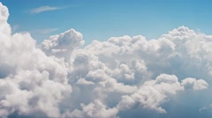 Flght above cloud - stock footage