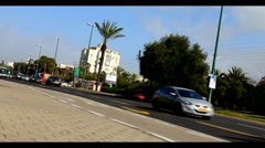 One of the main Tel Aviv streets - Namir - super time lapse Stock Footage