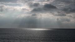 Spot of Sunlight on the Sea Stock Footage