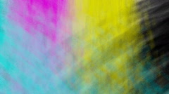 Animated spray paint of cyan, magenta, yellow and black colors Stock Footage