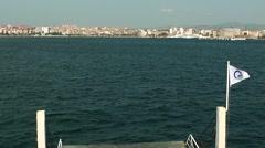 Bosphorus of Canakkale City in Turkey Stock Footage