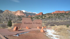 Garden of the Gods: East Entry Gate - 24fps Stock Footage