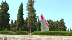 Canakkale Martyrs' Memorial, Turkey for battle of Gallipoli Stock Footage