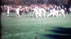 Vintage family film movies, Football high school or collage - stock footage