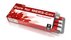 Cure for MERS-Cov - Red Pack of Pills - stock illustration