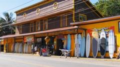 Old surf shop hawaii Stock Footage