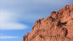 Garden of the Gods - Kissing Camels Rock Formation Time Lapse Stock Footage