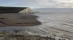 Waves At Cuckmere Haven Stock Footage