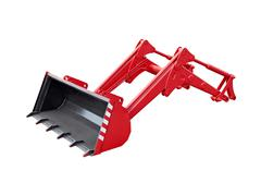 Big red excavator grab - stock photo