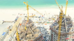 Time lapse construction business real estate building Dubai economy tourism Stock Footage