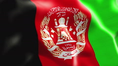 Flag of Afghanistan Stock Footage