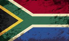 South Africa flag. Grunge background. Vector illustration Stock Illustration