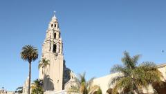 Balboa Park California Tower in San Diego, California Stock Footage