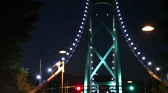 Lions gate bridge Stock Footage