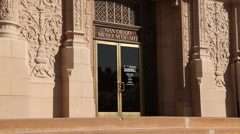 San Diego Museum of Art - Entrance Stock Footage