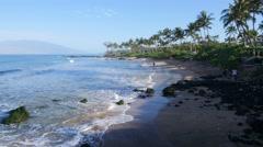 Mokapu Beach, Wailea, Maui, Hawaii Stock Footage